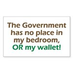 Smaller Government Rectangle Sticker 50 pk)