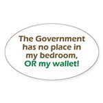 Smaller Government Oval Sticker (50 pk)