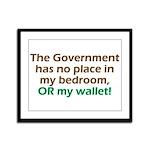 Smaller Government Framed Panel Print