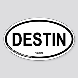 Destin Oval Sticker