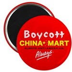 "Boycott China-Mart! 2.25"" Magnet (100 pack)"