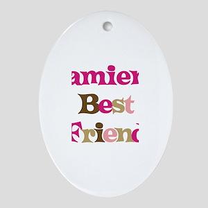 Damien's Best Friend Oval Ornament