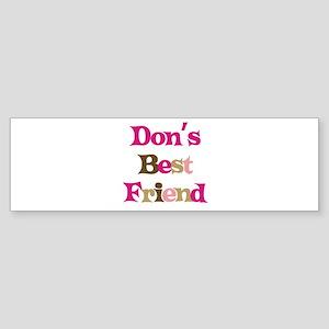 Don's Best Friend Bumper Sticker