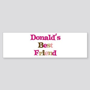 Donald's Best Friend Bumper Sticker