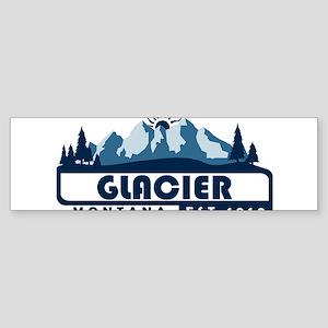 Glacier - Montana Bumper Sticker