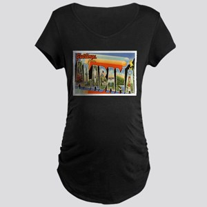 Alabama Postcard Maternity Dark T-Shirt
