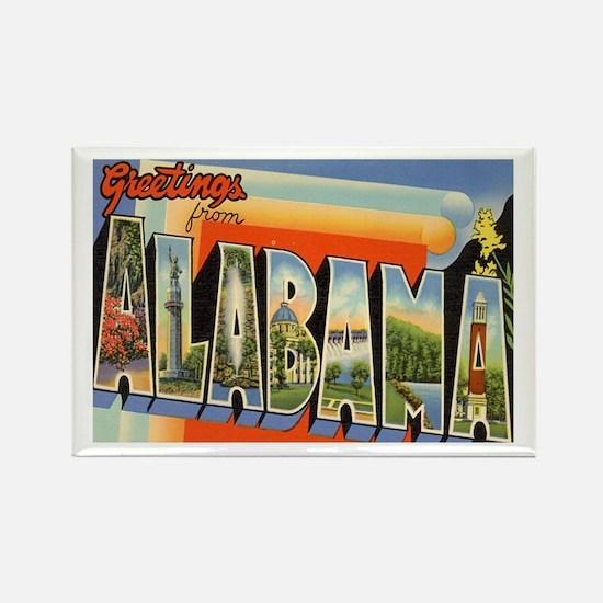 Alabama Postcard Rectangle Magnet