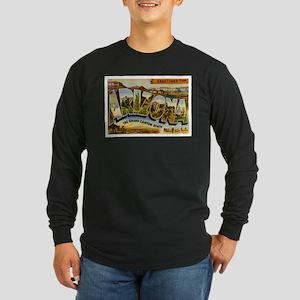 Arizona AZ Postcard Long Sleeve Dark T-Shirt