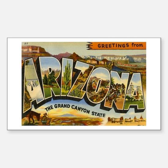 Arizona AZ Postcard Rectangle Decal