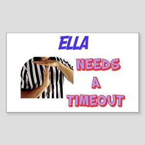 Ella Needs a Time-Out Rectangle Sticker