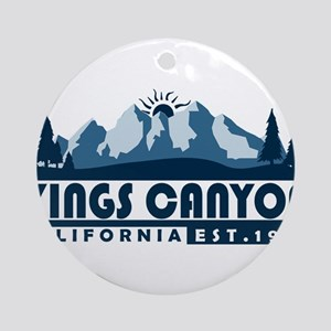 Kings Canyon - California Round Ornament