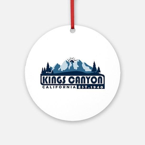 Kings Canyon - California Round Ornament