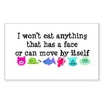 Won't Eat Sticker (Rectangle 50 pk)