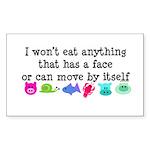 Won't Eat Sticker (Rectangle 10 pk)