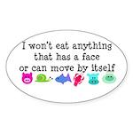 Won't Eat Sticker (Oval)