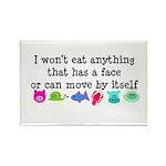 Won't Eat Rectangle Magnet (100 pack)