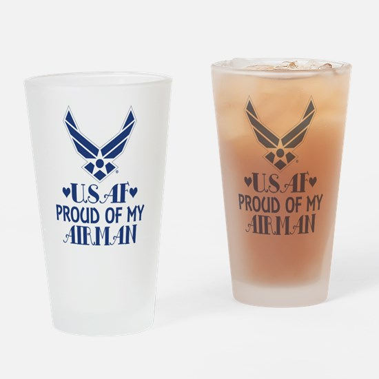 Air Force Proud Of Airman Drinking Glass