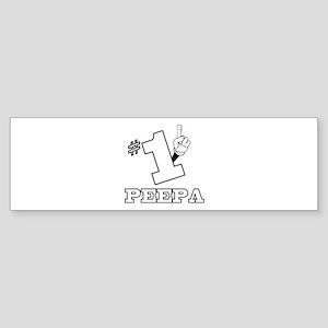 #1 - PEEPA Bumper Sticker
