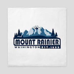 Mount Rainier - Washington Queen Duvet