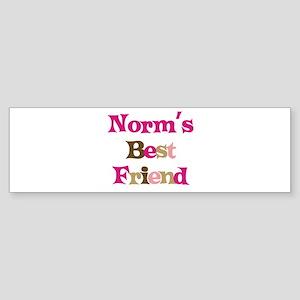 Norm's Best Friend Bumper Sticker