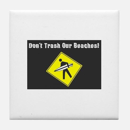Cute Waste Tile Coaster