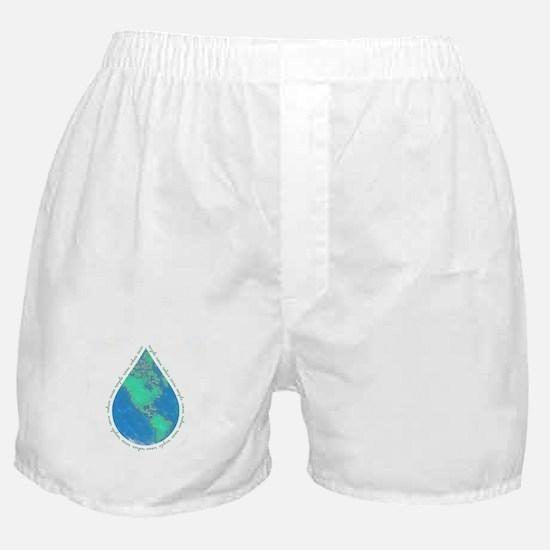 Water Drop Earth Boxer Shorts