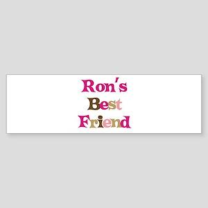 Ron's Best Friend Bumper Sticker