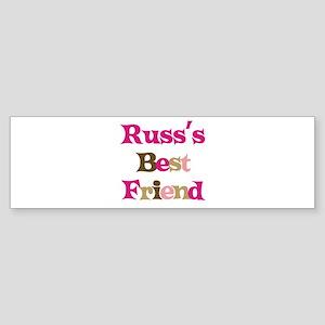 Russ's Best Friend Bumper Sticker
