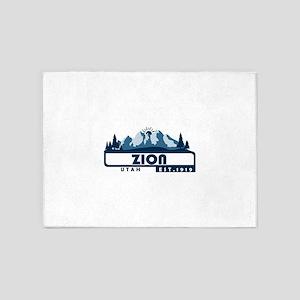 Zion - Utah 5'x7'Area Rug