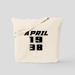 April 1938 Birthday Designs Tote Bag