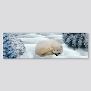 Sleeping polar fox Bumper Sticker