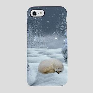 Sleeping polar fox iPhone 8/7 Tough Case