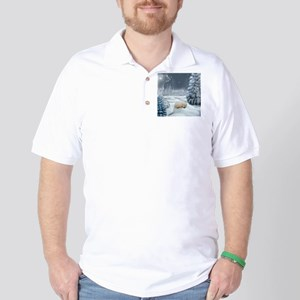 Sleeping polar fox Golf Shirt