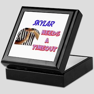Skylar Needs a Time-Out Keepsake Box