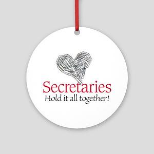 Secretaries Ornament (Round)