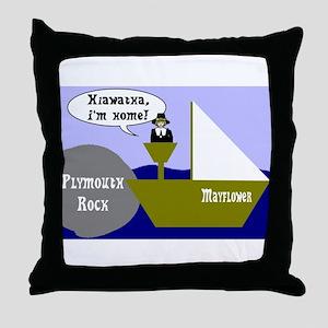 Hiawatha, I'm Home! Throw Pillow