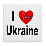 I Love Ukraine Tile Coaster