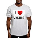 I Love Ukraine (Front) Ash Grey T-Shirt