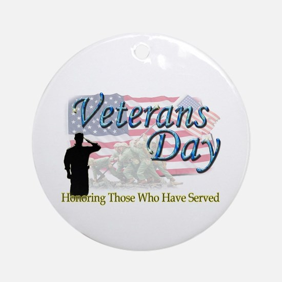 Veterans Day Ornament (Round)