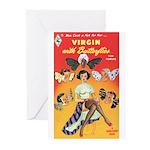 "Greeting (10)-""Virgin with Butterflies"""