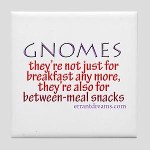 Gnomes for Breakfast Tile Coaster