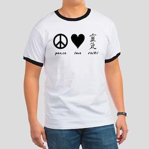 Peace, Love & Reiki Ringer T