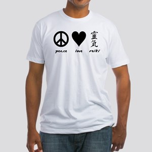 Peace, Love & Reiki Fitted T-Shirt