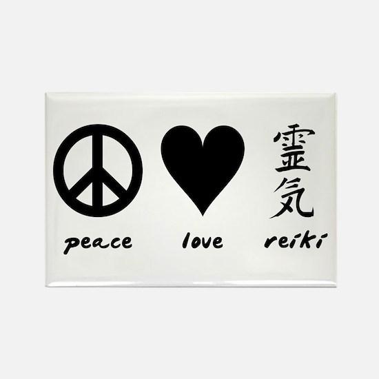 Peace, Love & Reiki Rectangle Magnet