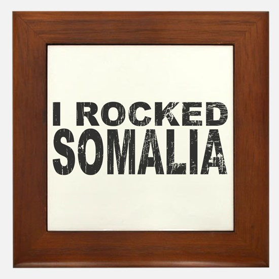 I Rocked Somalia Framed Tile