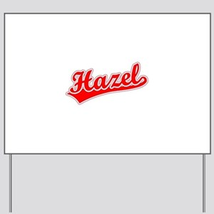 Retro Hazel (Red) Yard Sign