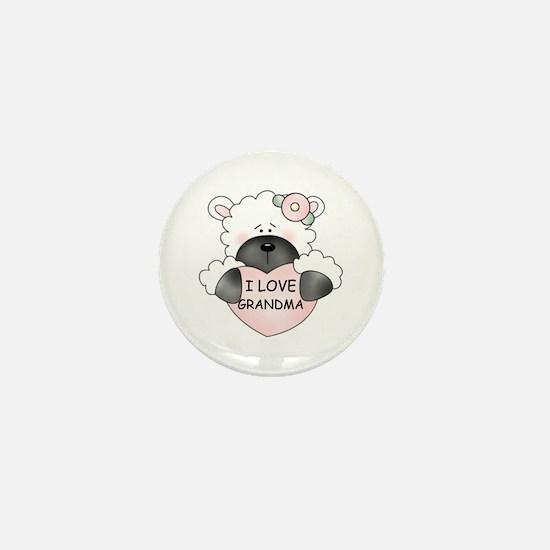 I LOVE GRANDMA Mini Button