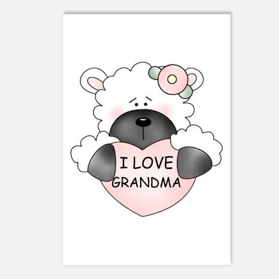 I LOVE GRANDMA Postcards (Package of 8)