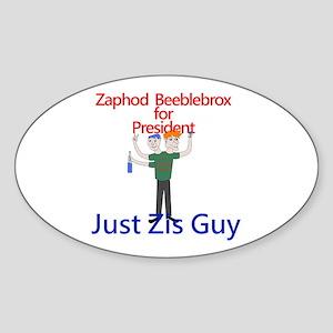 Zaphod Beeblebrox for President Oval Sticker