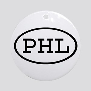 PHL Oval Ornament (Round)